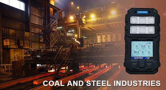 gas detection in the coal and steel industries